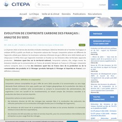 Evolution de l'empreinte carbone des Français : analyse du SDeS - Citepa