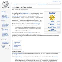 Buddhism and evolution