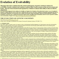 Evolution of evolvability