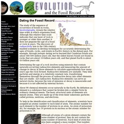 Evolution and the Fossil Record by John Pojeta, Jr. and Dale A. Springer