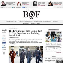 The Evolution of Pitti Uomo, Part II: New Frontiers and Building Brand Pitti