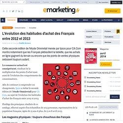 L'évolution des habitudes d'achat des Français entre 2012 et 2013