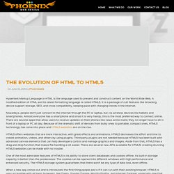 The Evolution of HTML to HTML5