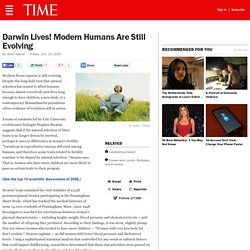Human Evolution: Are Humans Still Evolving?