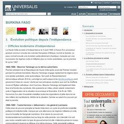 BURKINA FASO, Évolution politique depuis l'indépendance