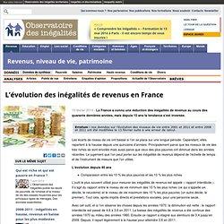 L'évolution des inégalités de revenus en France