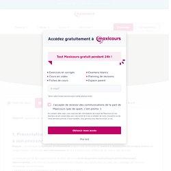Évolution du système d'information - Maxicours