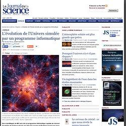 L'évolution de l'Univers simulée par un programme informatique › Espace
