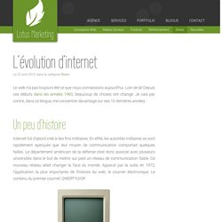 L'évolution d'internet - Nos stratégies exposées