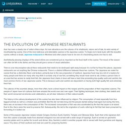 THE EVOLUTION OF JAPANESE RESTAURANTS : keenleee