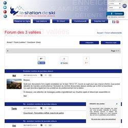 Evolution nombre de journées skieurs (Courchevel) - Forum des 3 vallées