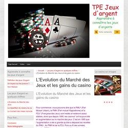 L'Evolution du Marché des Jeux et les gains du casino
