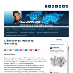 L'évolution du marketing d'influence