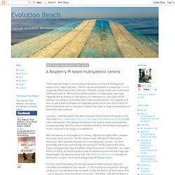 Evolution Beach: A Raspberry Pi based multispectral camera