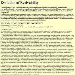 Evolution of evolvability