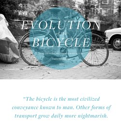 Evolution of the Bicycle