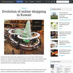 Evolution of online shopping in Kuwait