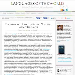 "The evolution of word order and ""free word order"" languages"