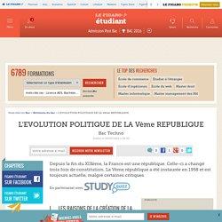 L'EVOLUTION POLITIQUE DE LA Vème REPUBLIQUE