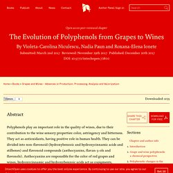 INTECH 20/12/17 The Evolution of Polyphenols from Grapes to Wines.