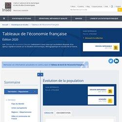 Évolution de la population − Tableaux de l'économie française