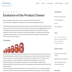 Evolution of the Product Owner - Scrum.org Community Blog