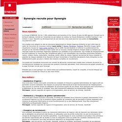Synergie, évolution de carrière professionnelle, mobilité, promotion interne