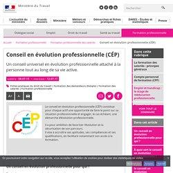 Conseil en évolution professionnelle (CÉP) - Formation professionnelle des salariés