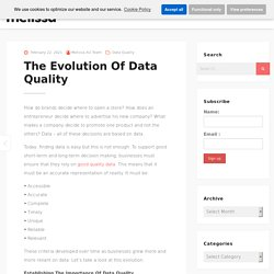 The Evolution Of Data Quality