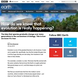 Earth - How do we know that evolution is really happening?