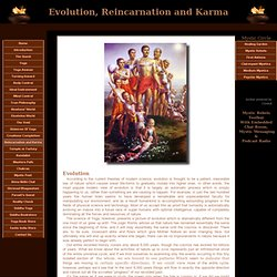 Evolution, Reincarnation and Karma