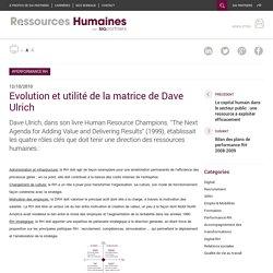 Evolution et utilité de la matrice de Dave Ulrich