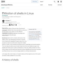 Evolution of shells in Linux