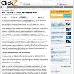 The Evolution of Social Media Advertising - ClickZ