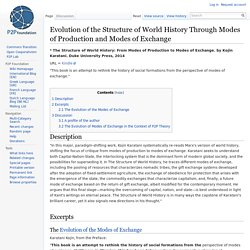 Evolution of the Structure of World History Through Modes of Production and Modes of Exchange