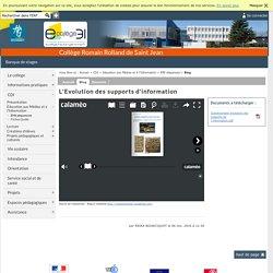 Romain Rolland de Saint Jean - L'Evolution des supports d'information
