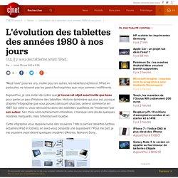 L'évolution des tablettes des années 1980 à nos jours