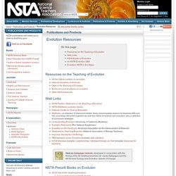 Evolution Science Teaching Products - NSTA Evolution Resources