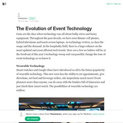 The Evolution of Event Technology