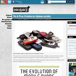 Plus de 70 ans d'évolution des téléphones portables