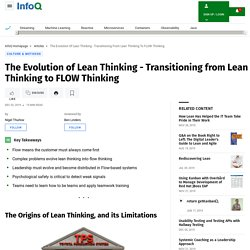 Transitioning from Lean Thinking to FLOW Thinking