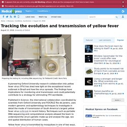 MEDICAL XPRESS 23/08/18 Tracking the evolution and transmission of yellow fever