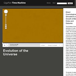 Evolution of the Universe - GigaPan Time Machine