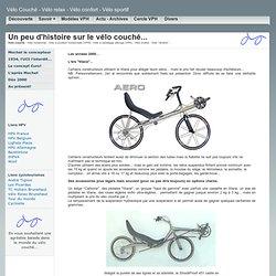 Evolution du vélo couché.