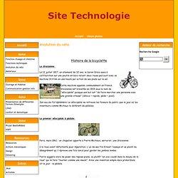 évolution du vélo - Site Technologie