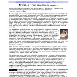 Evolution versus Creationism by Brig Klyce