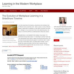The Evolution of Workplace Learning in a SlideShare Timeline