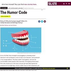 Why do humans laugh? The evolutionary biology of laughter.