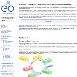 Evolving Objects (EO): Evolutionary Computation Framework