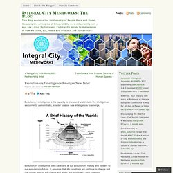 Evolutionary Intelligence Emerges New Intel « Integral City Meshworks: The Blog